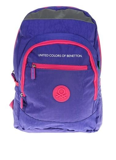 012 Benetton Okul Çantası Mor